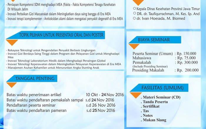Seminar Nasional Poltekkes Kemenkes Surabaya